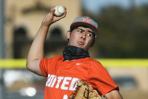 Pitcher Emilio Leal and the United Longhorns opened UISD Tournament play Friday with a 4-0 win over United South.