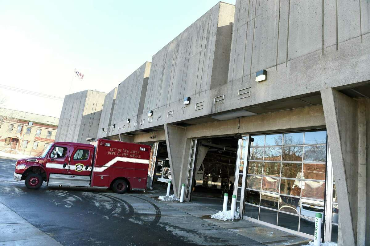 The New Haven Fire Department Headquarters photographed on February 4, 2021.