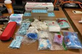 Narcotics recovered by Bridgeport police in a search warrant execution for the apartment of Joseph Gumbs, 39, in connection to a drug trafficking investigation, according to a police department press release.