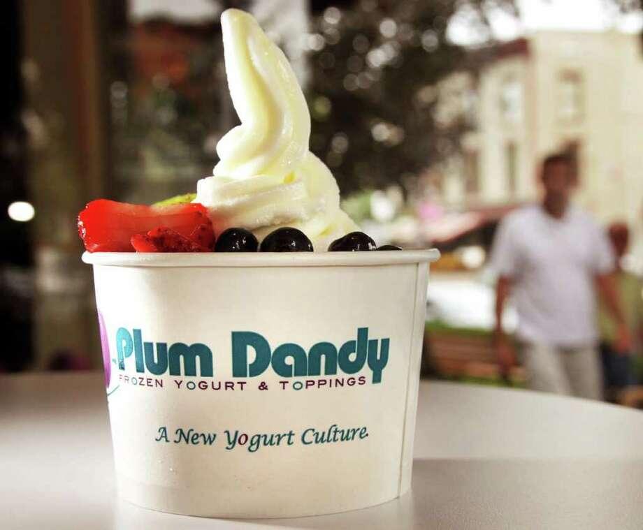 Frozen yogurt at Plum Dandy, a new shop in Saratoga Springs (John Carl D'Annibale / Times Union) Photo: John Carl D'Annibale / 00009831A