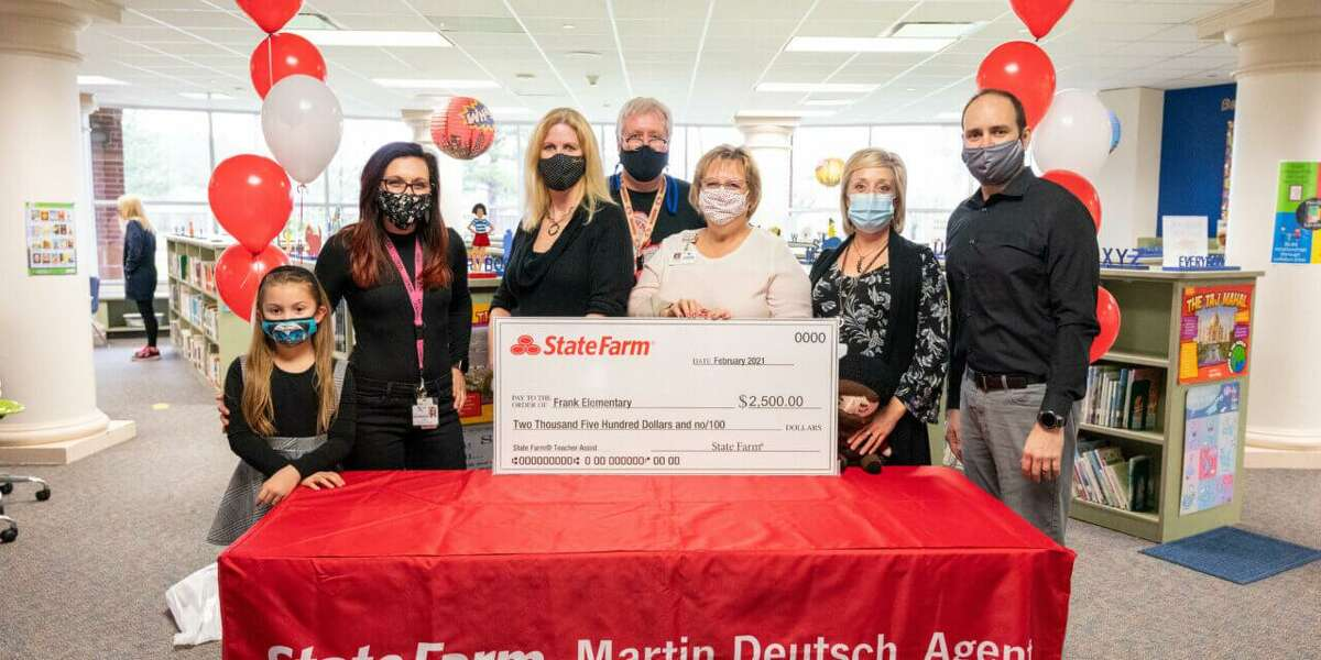 A $2,500 grant was awarded to students and staff at Frank Elementary School by State Farm local insurance agent and sponsor Martin Deutsch to support the school's student-run podcast series called 'We Believe', Klein Independent School District announced in a news release, March 3.