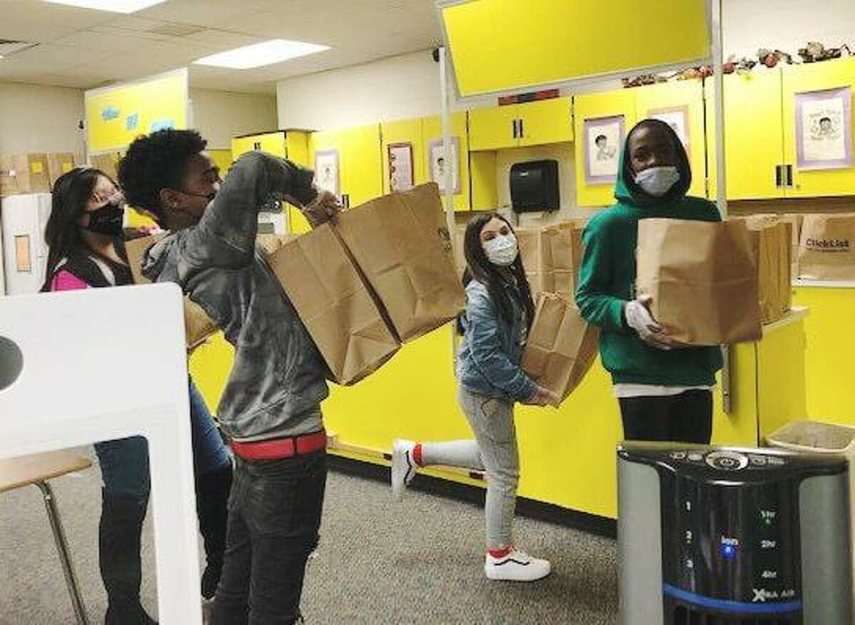 Wunderlich Intermediate students of Principles of Human Services prepared Grab & Go Goodie bags sponsored by Kroger in early February for online and on-campus students, Klein ISD announced in a news release, March 1.