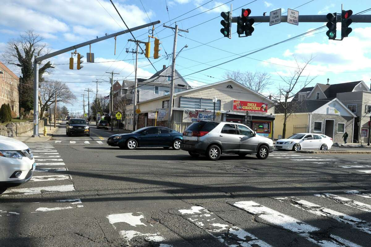 The intersection of Fairfield Ave. and Brewster St., in the Black Rock section of Bridgeport, Conn. March 4, 2021.