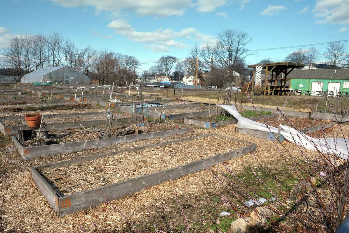 The community garden and farmers market site on Reservoir Ave., in Bridgeport, Conn. March 4, 2021.