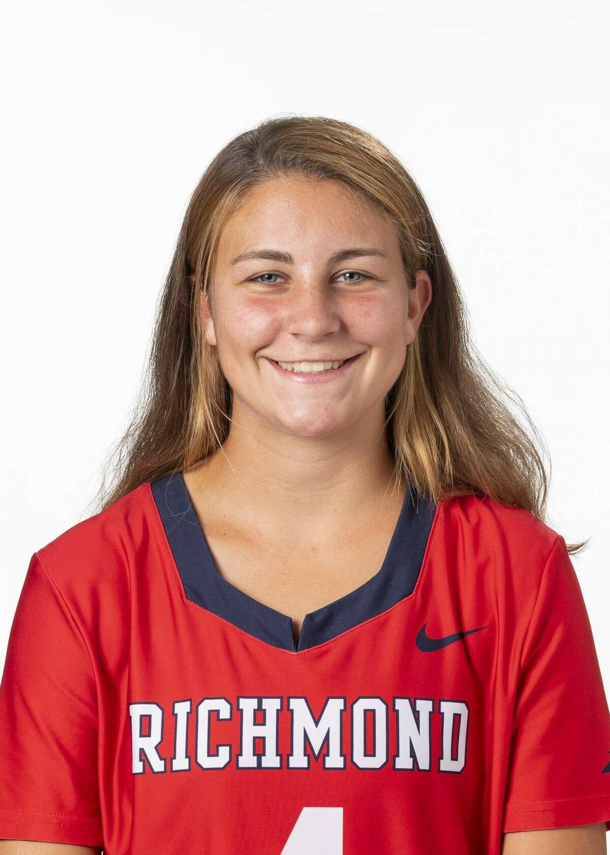 Saratoga Springs High School graduate Lindsey Frank of the Richmond lacrosse team. (Courtesy of Richmond Athletics)