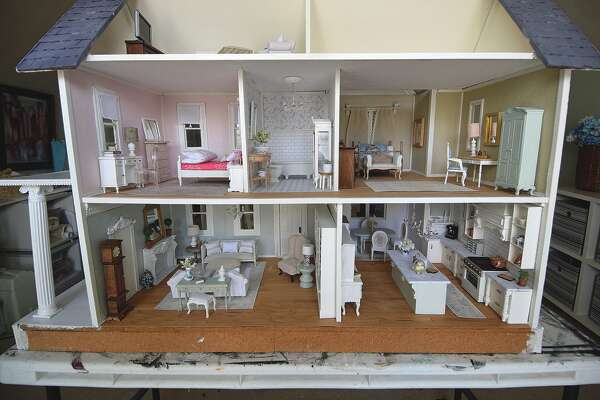 An inside view of Julie Rowe's dollhouse based on her family residence on West State Street.