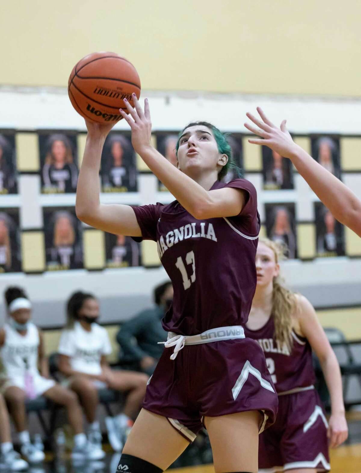 Magnolia Gabrielle Huetter (13) was named the District 19-5A Offensive MVP.