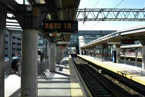 The Stamford Transportation Center in Stamford, Conn., photographed on Wednesday, Feb. 24, 2021.