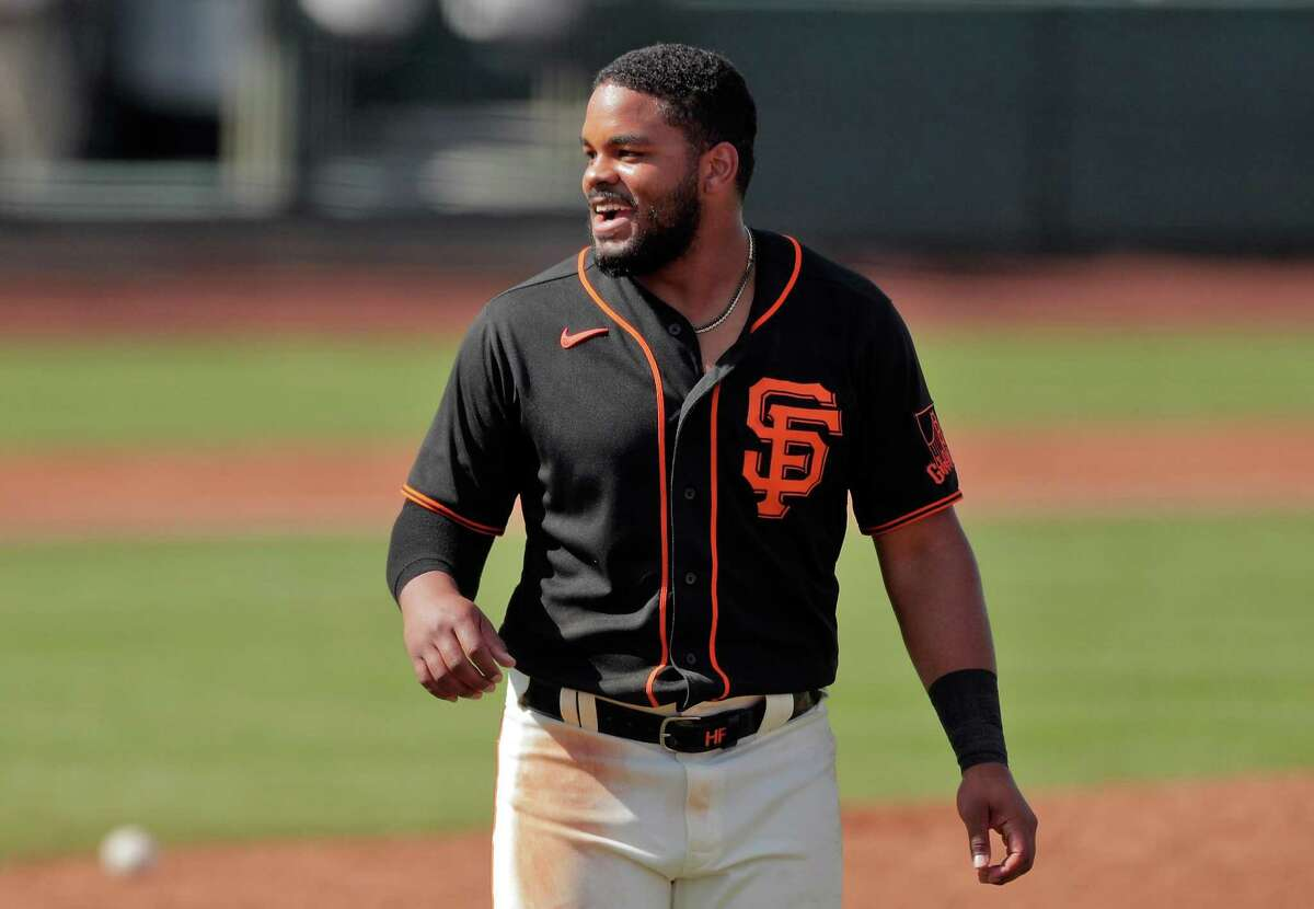 Heliot Ramos is hitting .429 with a team-leading three home runs in nine games for the Giants this spring.