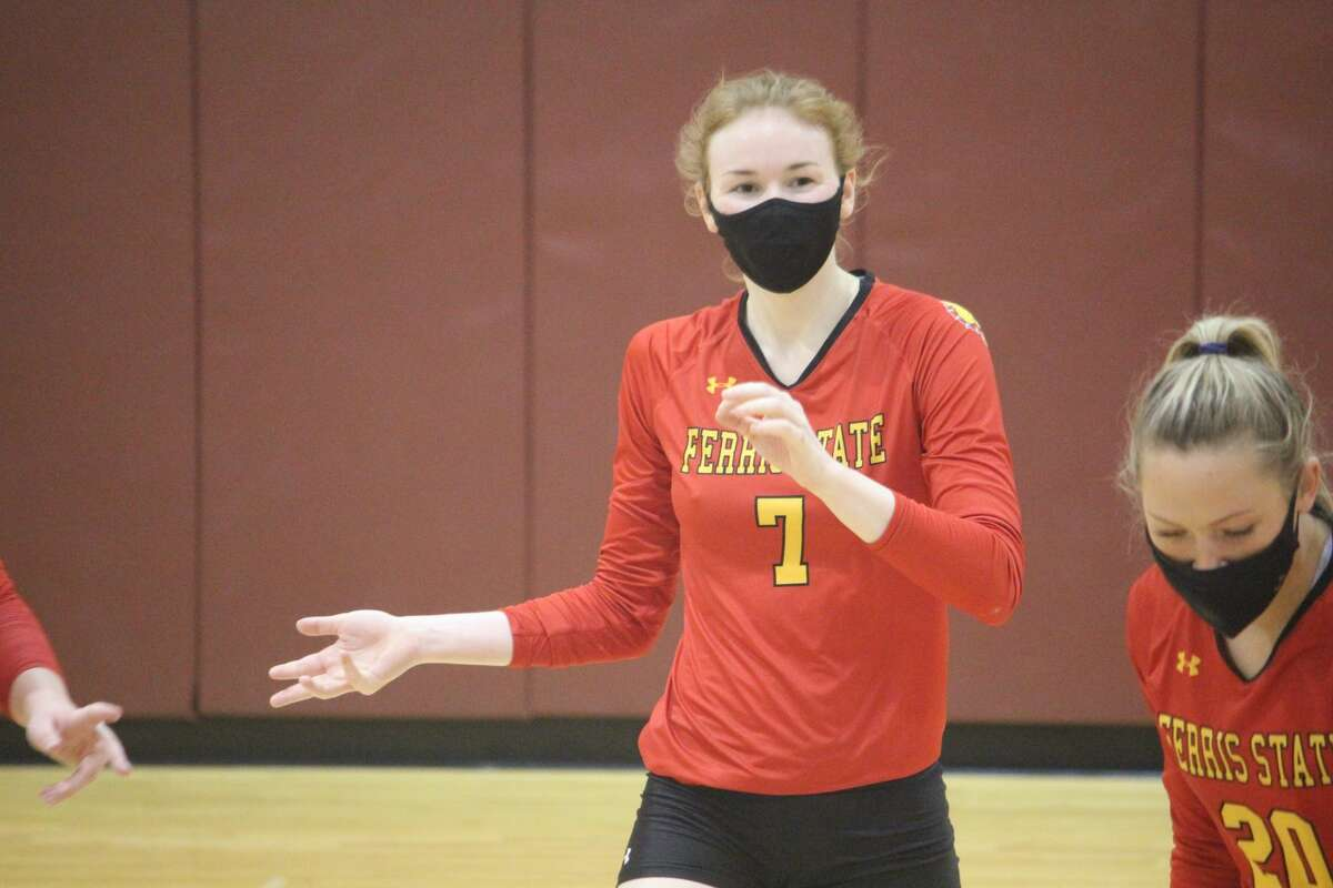 Ferris' volleyball team finished a sweep over Ashland during the weekend