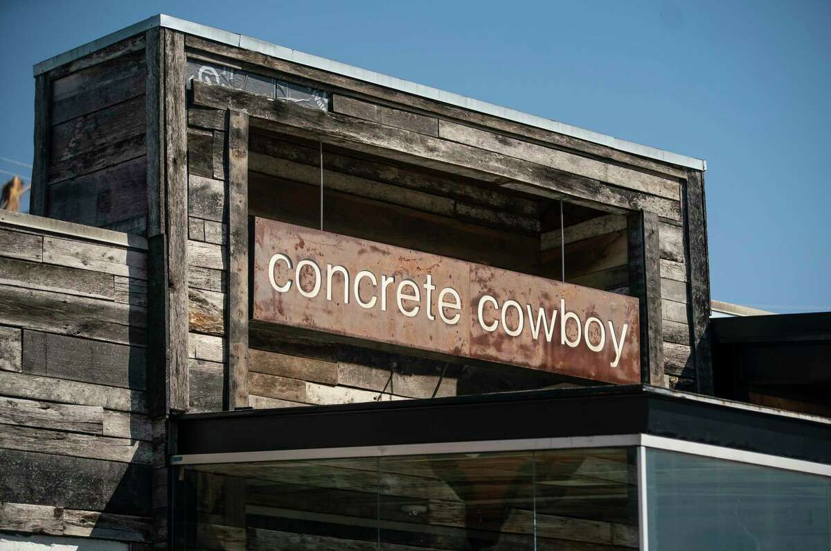"""The bar Concrete Cowboy had advertised a """"Mask Off Party"""" on Wednesday, March, 10, 2021. Mayor Sylvester Turner announced Monday that the owner had called off the event. Photographed on Washington Avenue, Sunday, March 7, 2021, in Houston."""