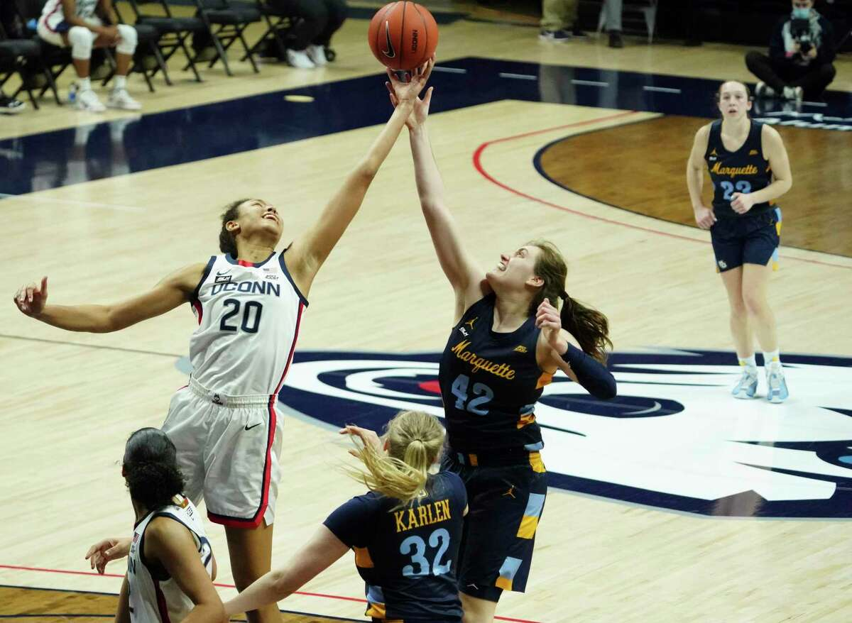 Top-seeded UConn and second-seeded Marquette will face off in the Big East tournament final on Monday night.