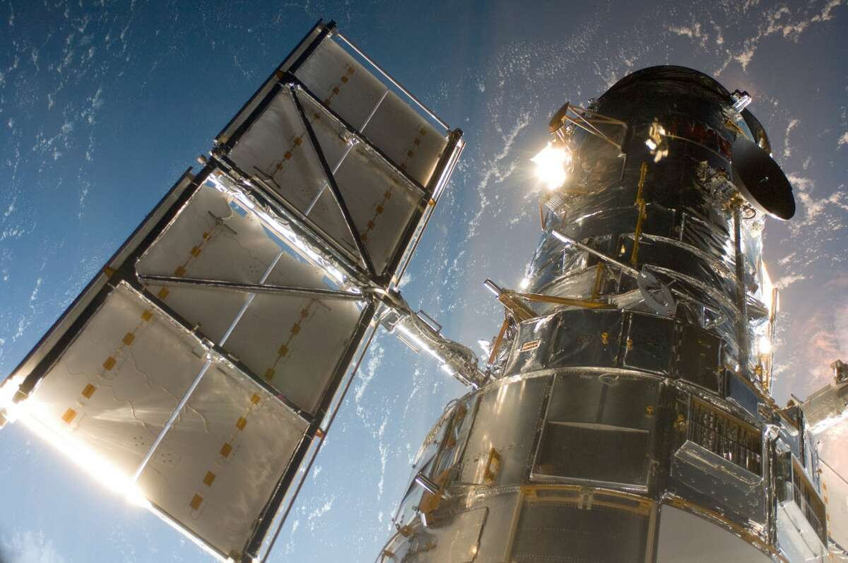 The Hubble Space Telescope is shown on May 13, 2009.