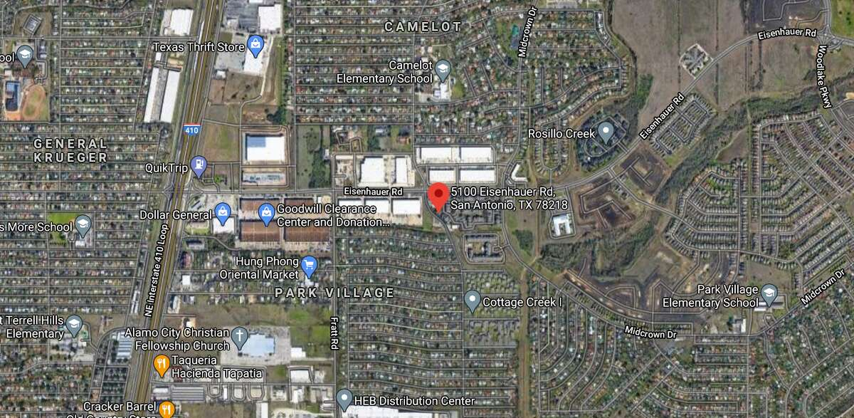 Officials have identified the San Antonio man killed in a car crash in the 5100 block of Eisenhauer Road on March 6, 2021. The map shows the approximate location of the incident.