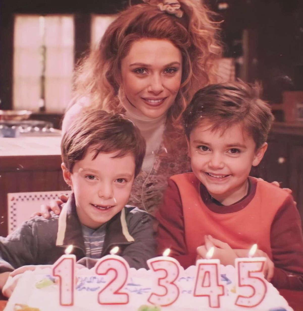 Baylen Bielitz with actors Elizabeth Olsen and Gavin Borders.