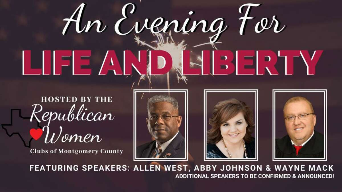 """The Republican Women Clubs of Montgomery County are hosting a Life and Liberty Conference on March 19 in Conroe.The conference will feature Judge Wayne Mack, Lt. Col (Retired) Allen West, who is the Chairman of the Republican Party of Texas and Abby Johnson, whose life was the basis of the movie """"Unplanned."""""""