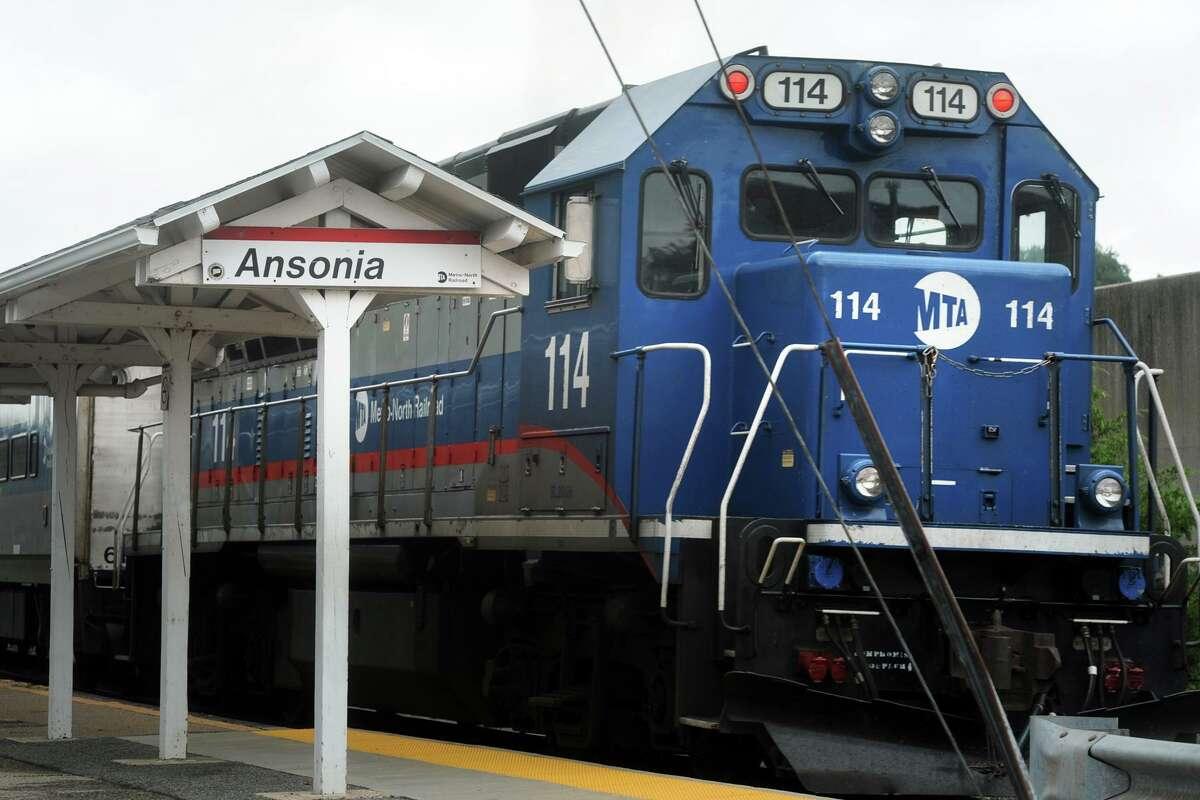 The Waterbury line Metro-North train pulls through the Ansonia train station, in Ansonia, Conn. July 23, 2018.