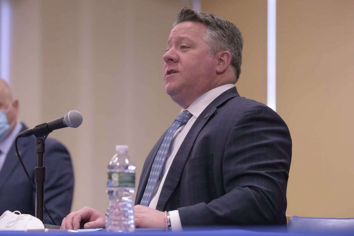 Albany County Executive Dan McCoy says coronavirus cases are increasing locally but so far there is no corresponding increase in deaths or hospitalizations.(Paul Buckowski/Times Union)