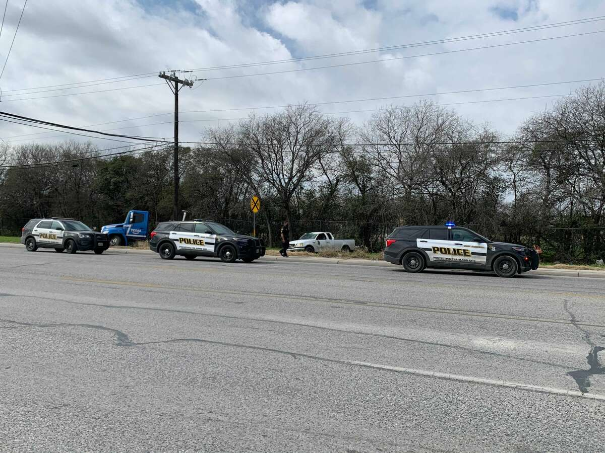 A man was arrested Monday on the East Side after stealing two trucks at gunpoint, San Antonio police said. Officers were called to Sun Vista Lane, near the intersection of Perrin Beitel and Loop 410, for a shooting-in-progress at around 10 a.m. A man was arrested Monday on the East Side after stealing two trucks at gunpoint, San Antonio police said. Officers were called to Sun Vista Lane, near the intersection of Perrin Beitel and Loop 410, for a shooting-in-progress at around 10 a.m.