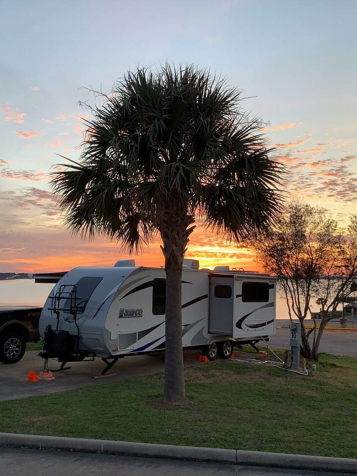 Bridget and Tony Caletka took their RV to a campground at Lake Livingston recently.