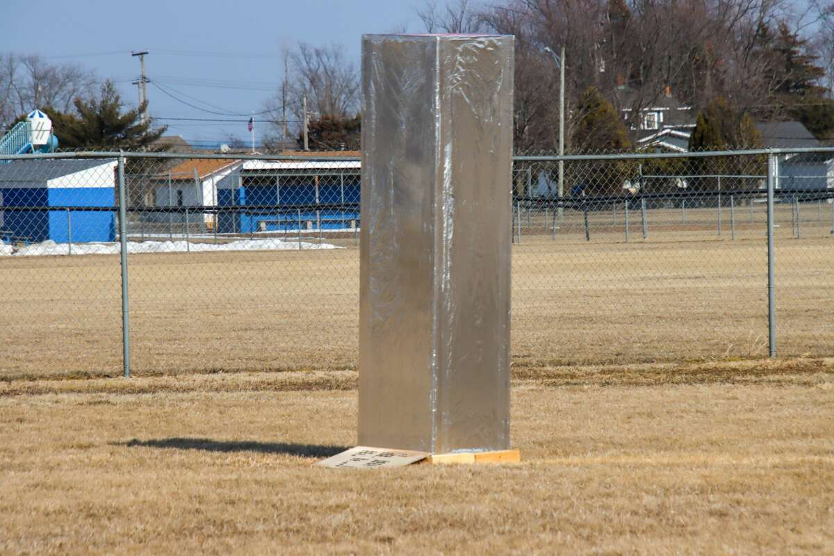A mysterious six foot object appeared in Port Hope delivering a message written in Morse Code that reads