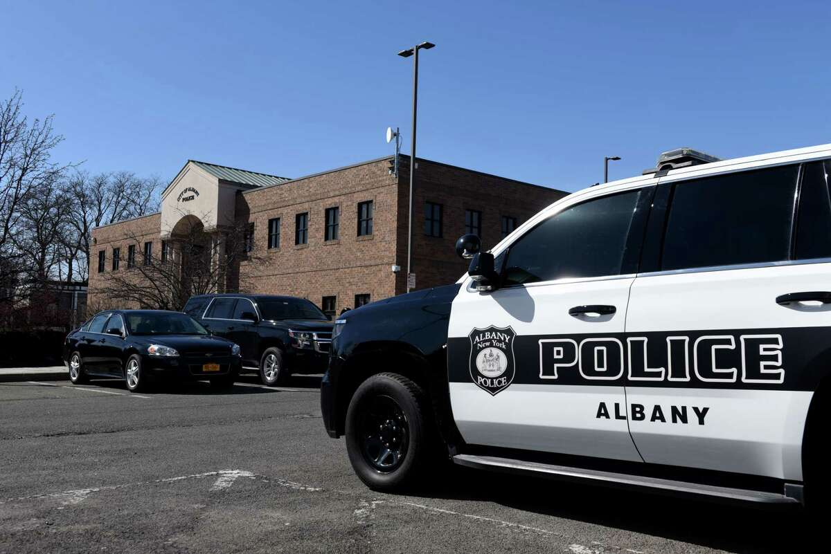 The Albany Police Department headquarters building is seen on Monday, March 8, 2021, on Henry Johnson Blvd. in Albany, N.Y. A 2019 ransomware attack damaged more of the city police department internal affairs files than previously acknowledged. (Will Waldron/Times Union)