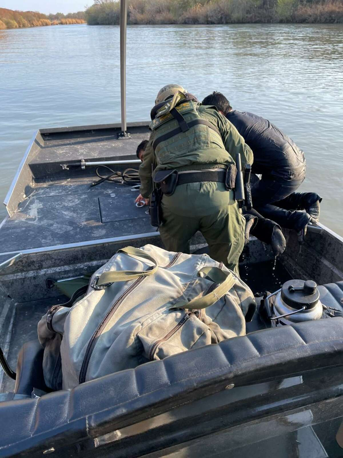 U.S. Border Patrol agents rescued two people from drowning in the Rio Grande. Authorities said the two individuals were immigrants from Mexico who attempted to cross the border illegally.