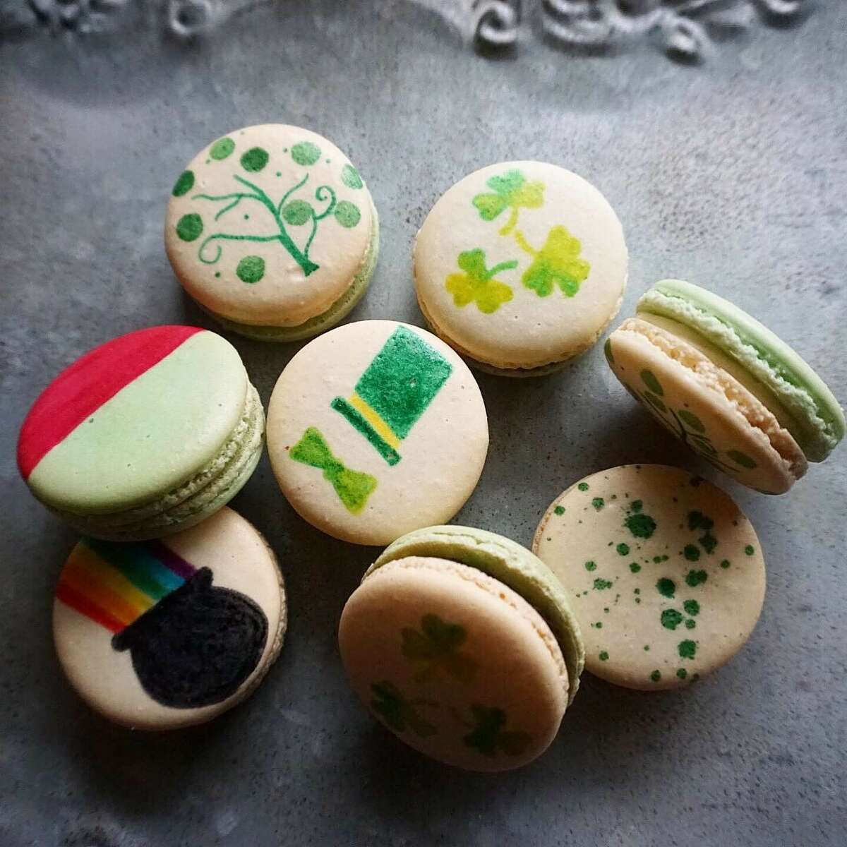 St. Patrick's Day macarons from Black Magic Sweets
