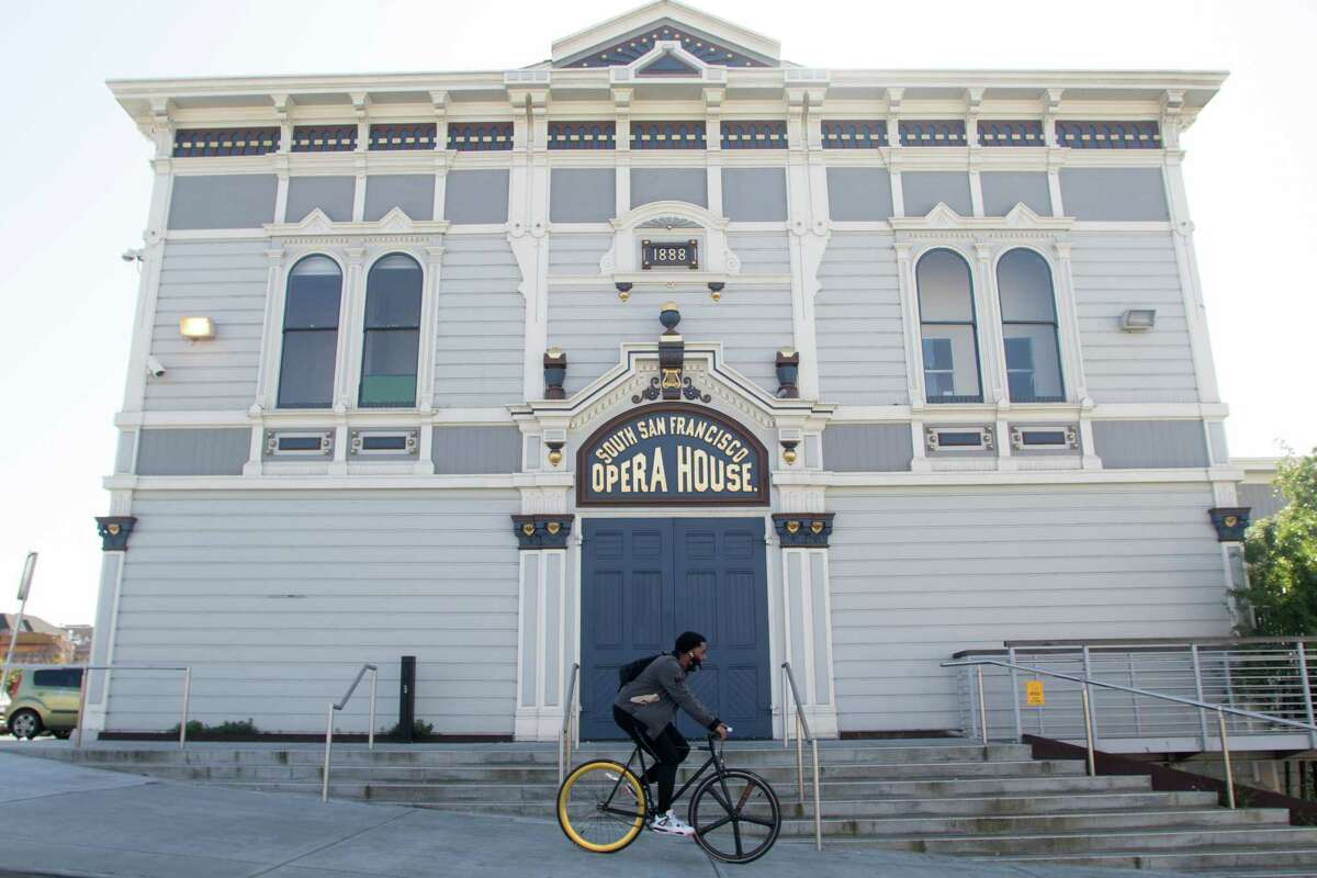 The exterior of Bayview Opera House in the Bayview District of San Francisco on Mar. 8, 2021.