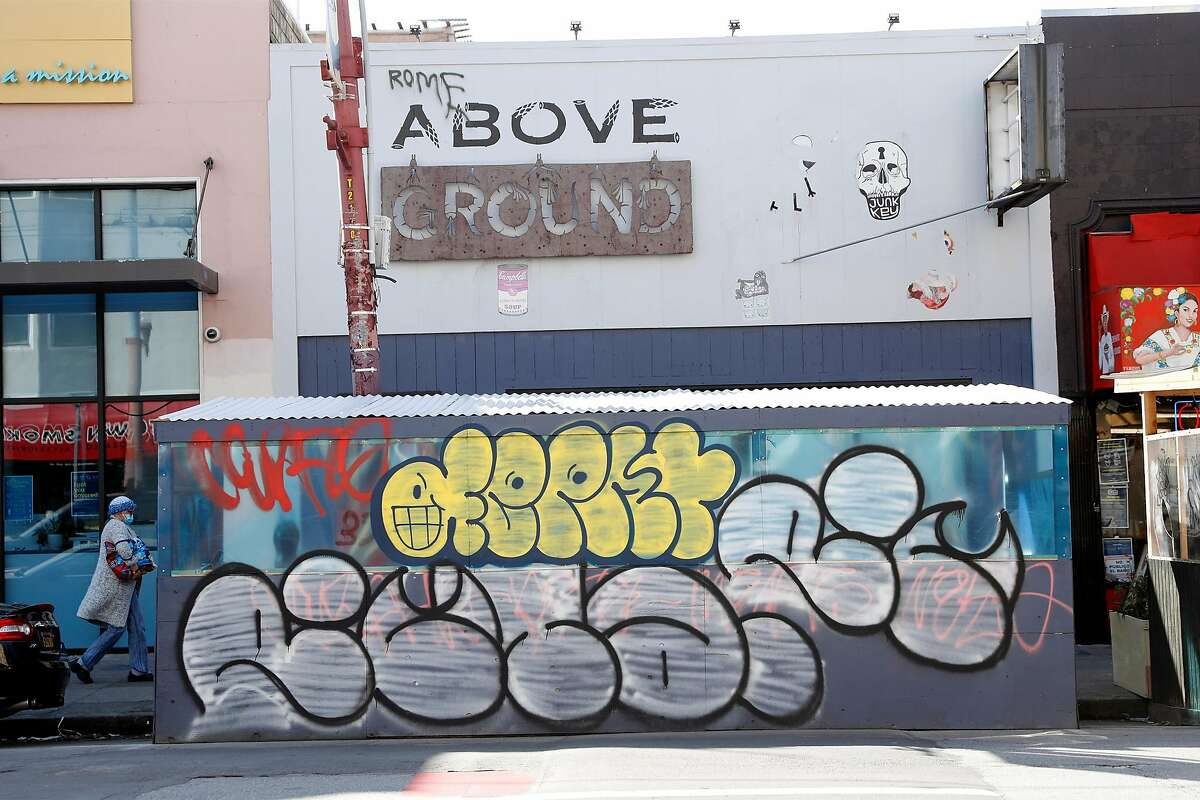 The manager of the Above Ground restaurant in San Francisco says graffiti is a constant problem.