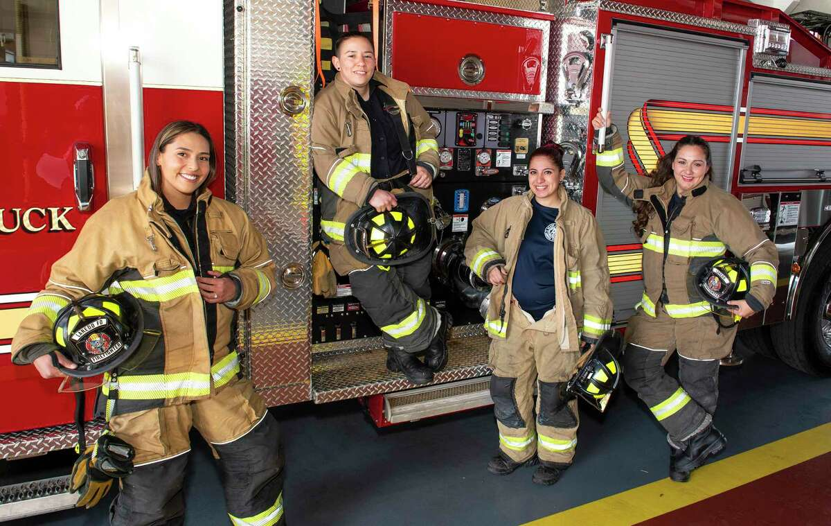 Daniella Gonzalez, Katherine Ramos, Lisa Villarreal and Catherine Archer-Lara are the only female firefighters in Laredo, and they all played high school athletics locally.