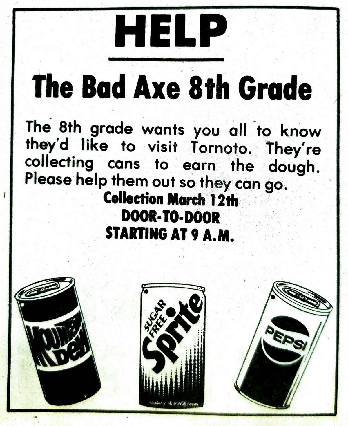 Pop cans for fundraising isn't a new concept, but check out these retro logos.