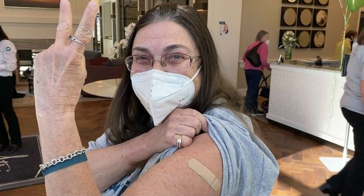 Staff members at Atria Ridgefield senior assisted living are vaccinated for COVID-19 recently.