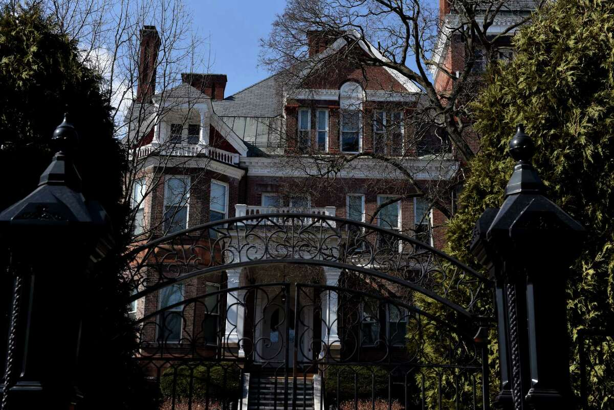 The New York State Executive Mansion is seen from Eagle Street on Tuesday, March 9, 2021, in Albany, N.Y. (Will Waldron/Times Union)
