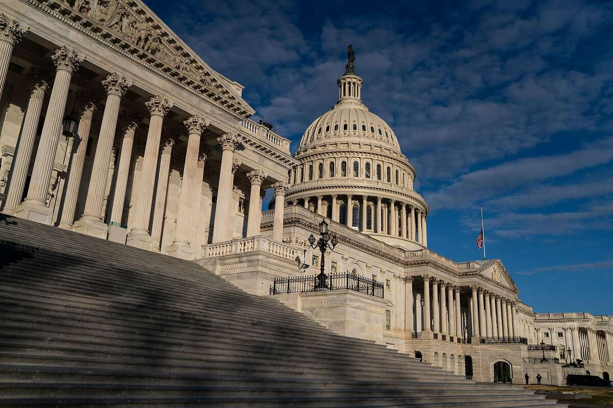 The Capitol in Washington, D.C., on Jan. 16, 2021. Congress is on the verge of final passage of the $1.9 trillion stimulus bill, which will send billions of dollars to state and local governments, schools and households in California.