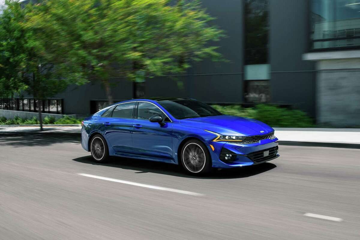 Kia's 2021 K5 GT features a stunning design, but it only has a 26 mpg city, 34 mpg highway fuel economy.