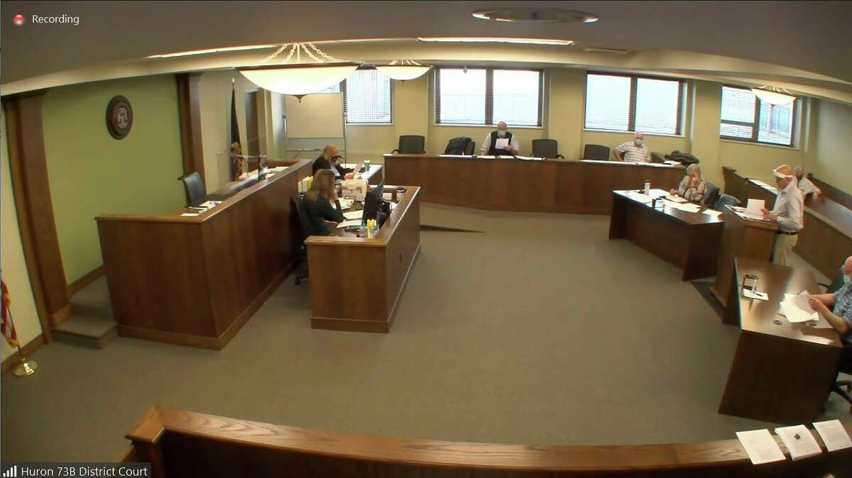 The Huron County Board of Commissioners meet during this week's meeting, held over Zoom. The commissioners finally adopted a long in-development master plan from the planning commission. (Robert Creenan/Huron Daily Tribune)