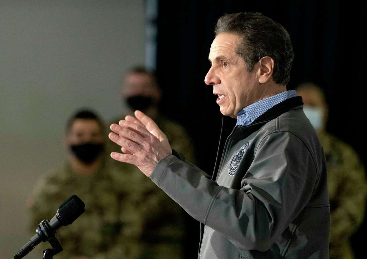 Gov. Andrew M. Cuomo in Syracuse on Tuesday, just hours before new sexual harassment allegations against him were reported. (Office of the Governor)