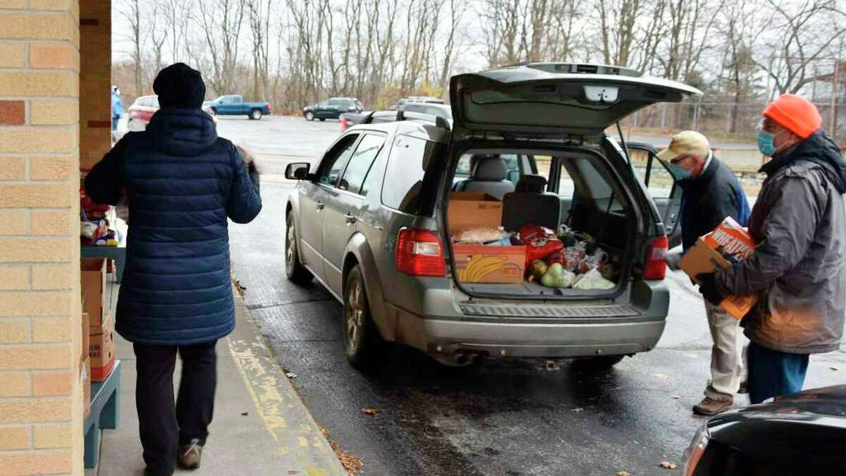 The nextMatthew 25:35 Food Pantrydrive-thru food pantry event is set to go from 9 a.m. to noon on Friday at the parking lot of the St. Joseph Parish Center, 249 Sixth St. (File photo)