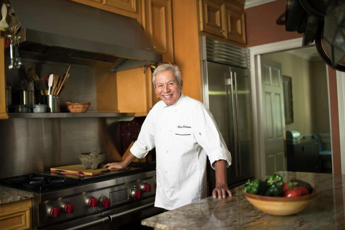 """Adán Medrano at his home kitchen in Houston. He is the writer and executive producer of the new documentary """"Truly Texas Mexican."""""""