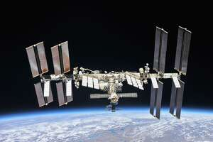 The International Space Station photographed by Expedition 56 crew members in 2018 after their Soyuz spacecraft undocked from the station.