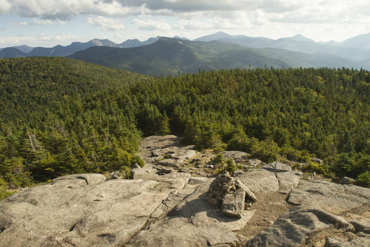 The 6-million-acre Adirondack Park, seen from atop Cascade Mountain in the High Peaks region, locks up an enormous store of carbon that would otherwise float in the air and further warm our planet - an effect known as a carbon sink.
