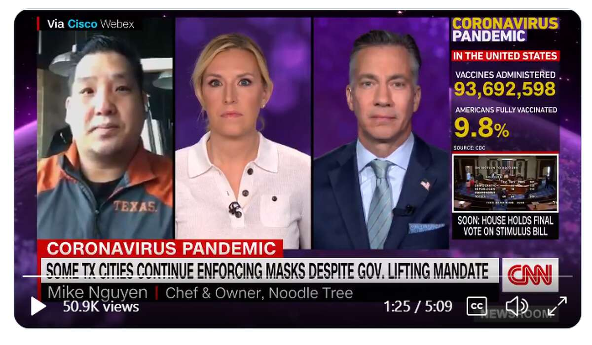 CNN tapped a San Antonio restaurant owner to discuss the state of the industry as Texas reopens at full capacity without a mask mandate on Wednesday.