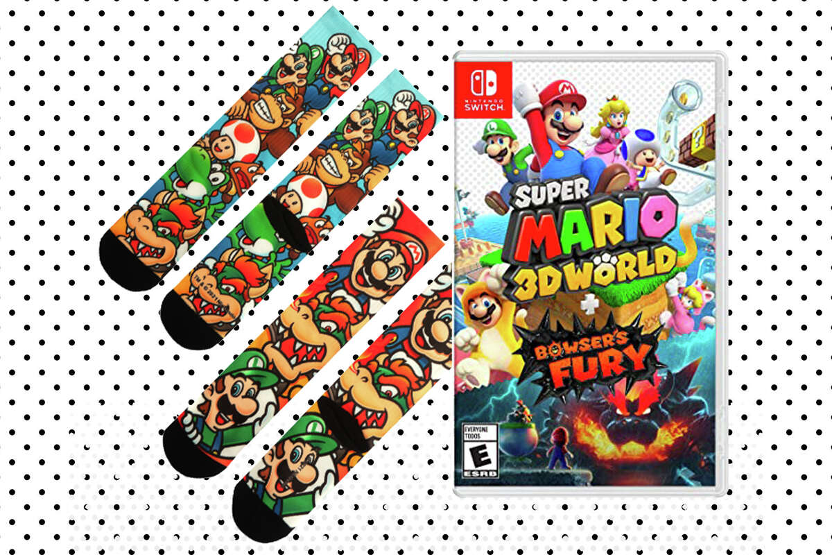 Super Mario 3D World + Bowser's Fury & Two Pairs of Mario Socks for $59.88