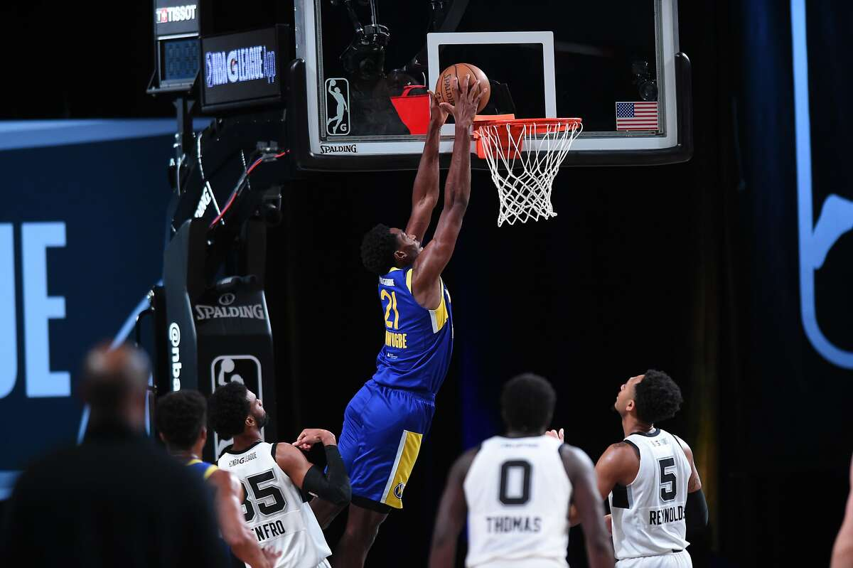 In 12 games at the G League bubble near Orlando, Santa Cruz Warriors forward Selom Mawugbe averaged 5.3 points on 82.9% shooting, 4.4 rebounds and 2.6 blocks in 19 minutes.