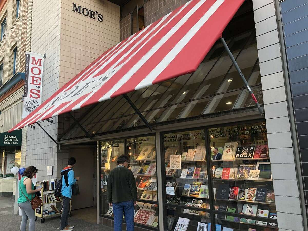 The front of local institution Moe's Books in Berkeley.