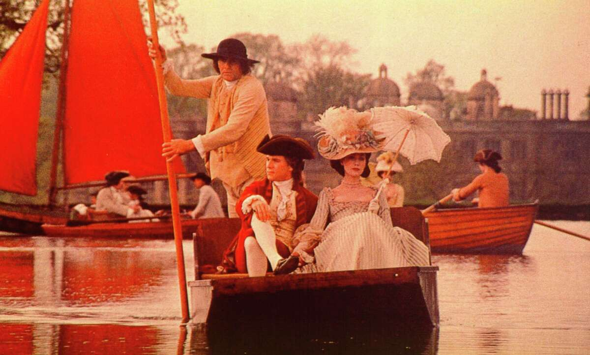 """Ryan O'Neal and Marisa Berenson take a ride in a scene from """"Barry Lyndon."""""""