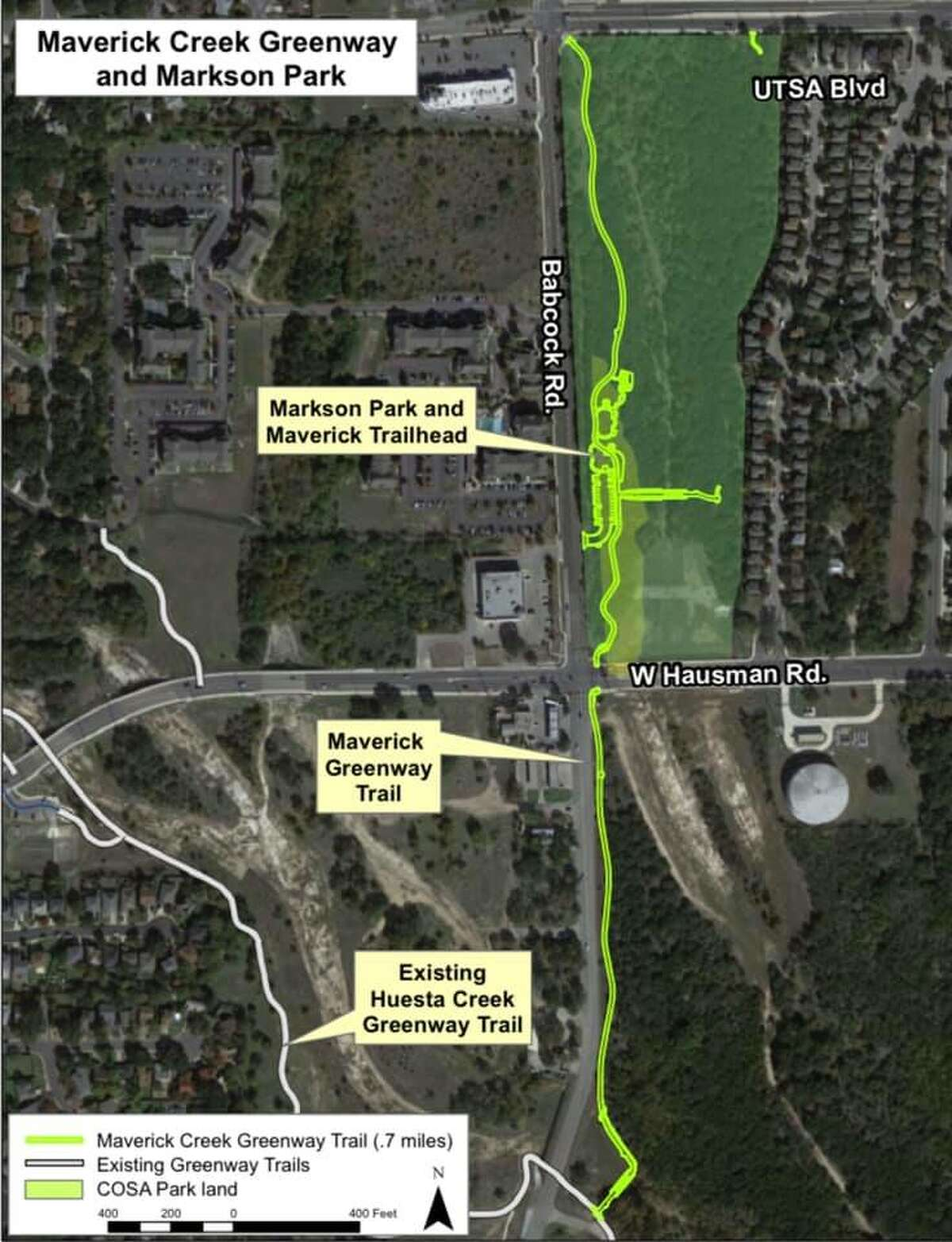 The new trail connects to the Leon Creek Greenway.