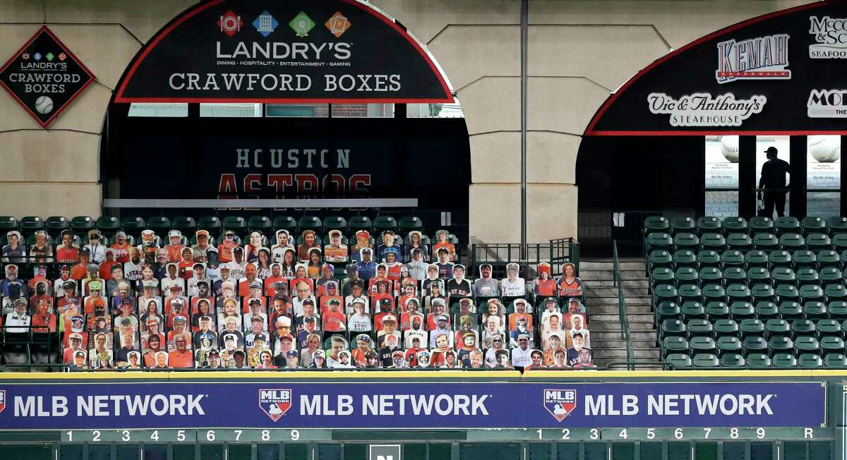Astros attendance was limited to cardboard cutouts in 2020 but the team is going to phase in how many will be allowed to attend in person this season.