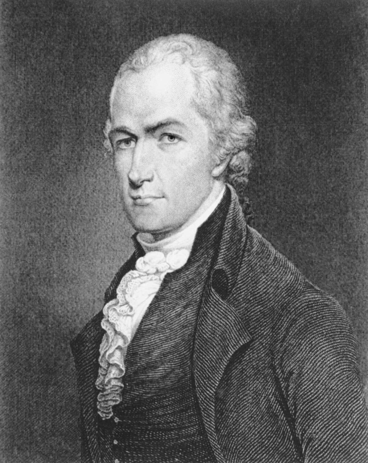 An etching of Alexander Hamilton from the Library of Congress.